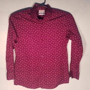 Pink by Thomas Pink, Dress Shirt, Paisley